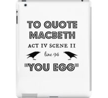 Macbeth iPad Case/Skin