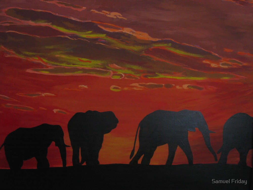 ''african sky I'' by Samuel Friday