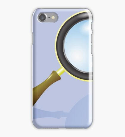 magnifying glass iPhone Case/Skin