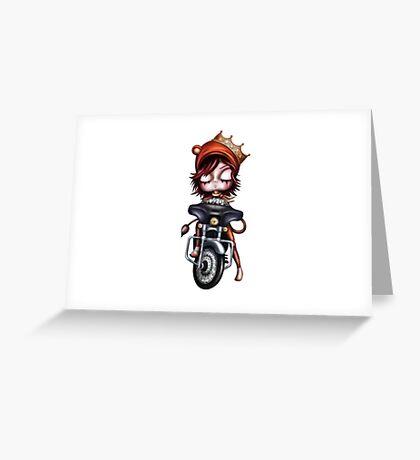 Biker Girl Greeting Card