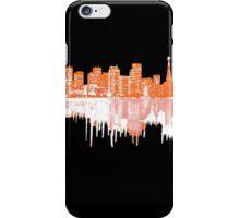San Francisco Skyline in Orange and White iPhone Case/Skin