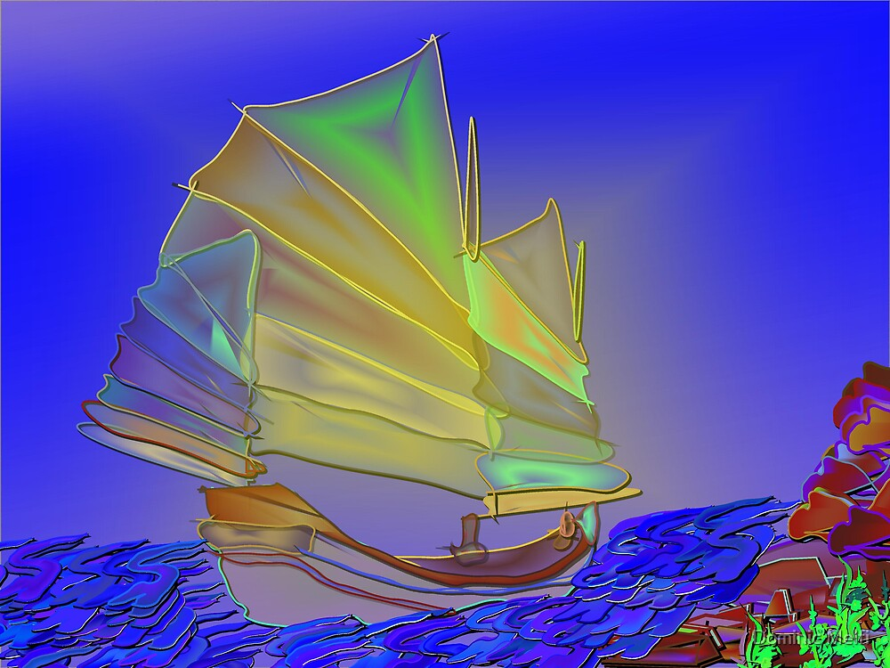 Chinese Junk I by Dominic Melfi