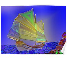 Chinese Junk I Poster