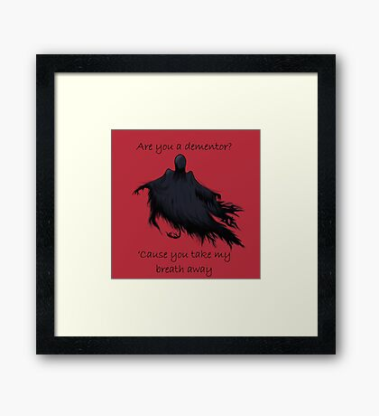 HP pick-up line Framed Print