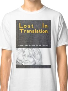 LOST IN TRANSLATION hand drawn movie poster in pencil Classic T-Shirt
