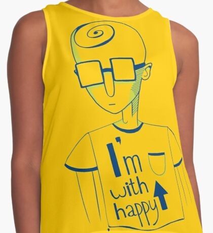 I'm with happy! Contrast Tank