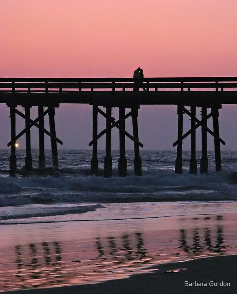 Pink Pier Sunset by Barbara Gordon