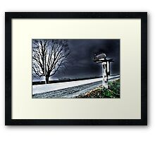 Lonely Red Framed Print