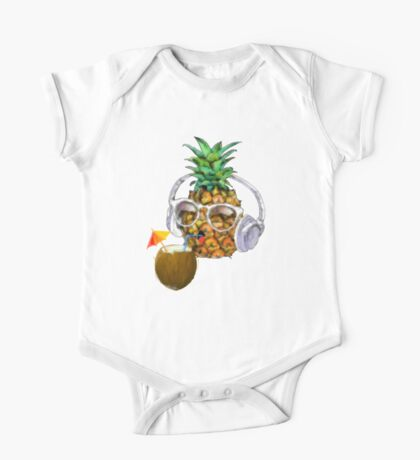Pineapple Tropical Party One Piece - Short Sleeve