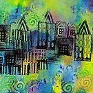 Psychedelic City 1 by Liz Plummer