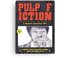 PULP FICTION hand drawn movie poster in pencil Canvas Print