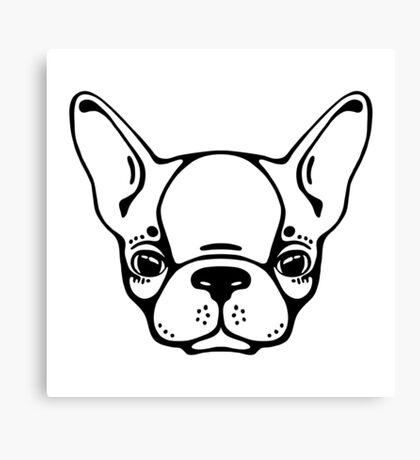 French bulldog head isolated Canvas Print