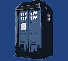 The BLUE Police Box - Tardis by HiddenCorner