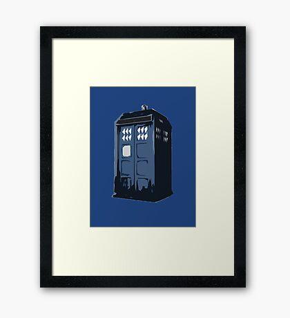 The BLUE Police Box - Tardis Framed Print