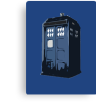 The BLUE Police Box - Tardis Canvas Print