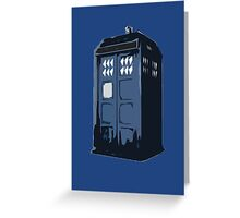 The BLUE Police Box - Tardis Greeting Card