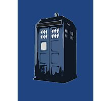 The BLUE Police Box - Tardis Photographic Print