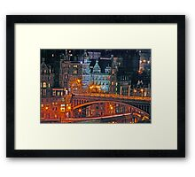 """Olde World Edinburgh City"" Framed Print"