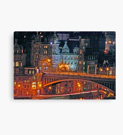 """Olde World Edinburgh City"" Canvas Print"