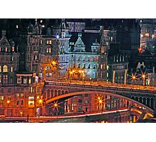 """Olde World Edinburgh City"" Photographic Print"