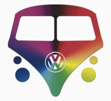 VW Bus hippie sunburst by Tony  Bazidlo