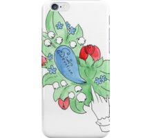 Vintage Inspired Flower Design - Devotion iPhone Case/Skin