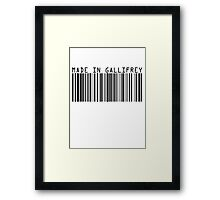 Made In Gallifrey Framed Print