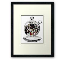 The clock strikes 12 Framed Print