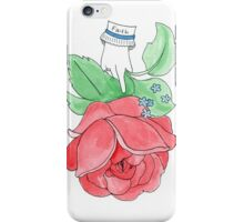 Vintage Inspired Flower Design - Faith iPhone Case/Skin