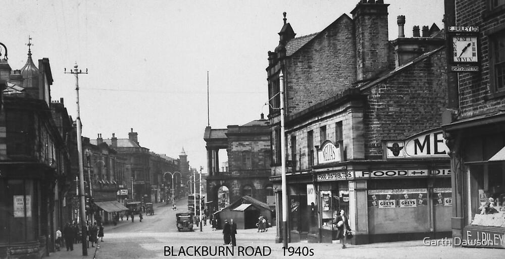 Blackburn Road, Accrington, Lancashire in 1940 by Garth Dawson