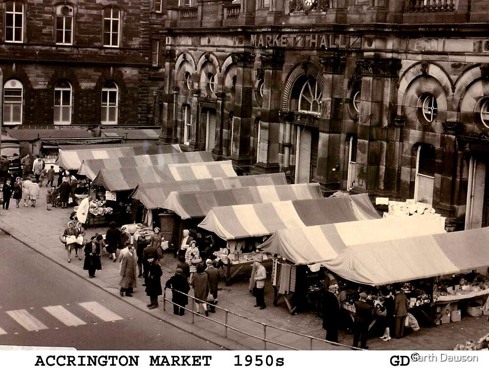 Accrington Market 1950's by Garth Dawson