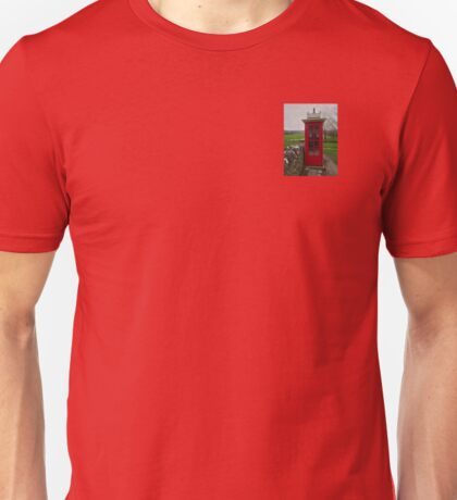 Phone Box in the Abandoned Village of Tyneham, Dorset Unisex T-Shirt