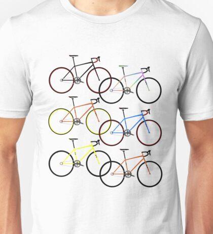 Road Bike Multi Coloured Unisex T-Shirt