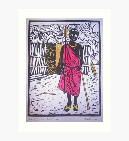 Zebedia - the eldest son Art Print