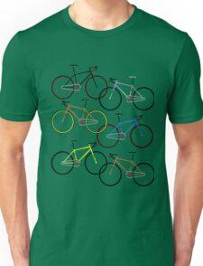 Road bikes multi coloured Unisex T-Shirt