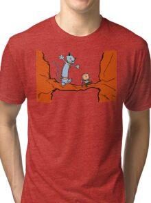 A Freelancer & his Lying Cat Tri-blend T-Shirt
