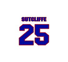 National baseball player Butch Sutcliffe jersey 25 Photographic Print