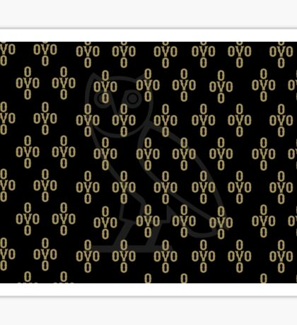 Black and gold background Sticker