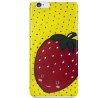 Cute Strawberry wants to be Friends iPhone Case/Skin
