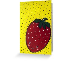 Cute Strawberry wants to be Friends Greeting Card