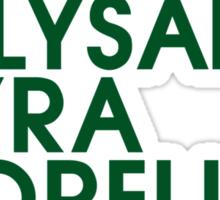 House Mormont 1 Typography series II Sticker