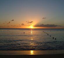 Caribbean Sunset by lucio della ratta