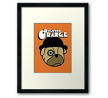 Pugwork Orange Framed Print