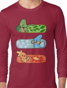 Pokemon / Hoenn Starters - Omega Ruby Long Sleeve T-Shirt