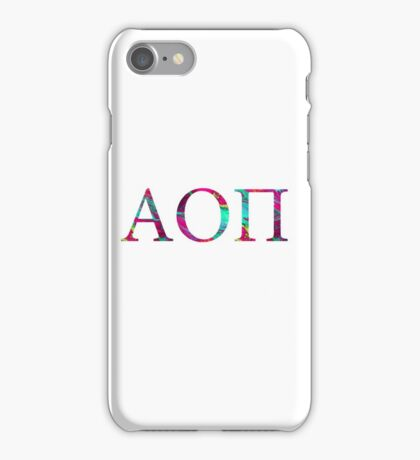 Alpha Omicron Pi- ΑΟII iPhone Case/Skin