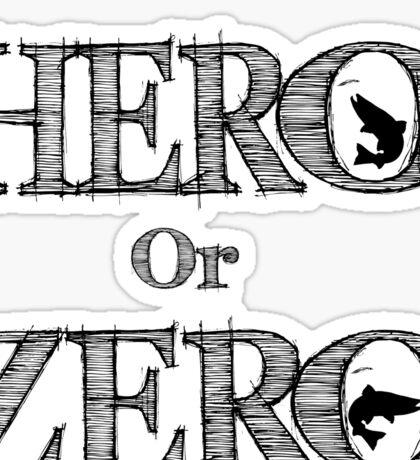 Hero Or Zero Logo Gear Sticker