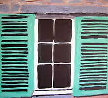 Green Shutters by gillsart