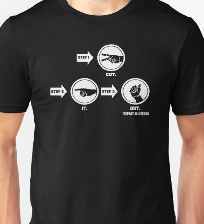 Cut Out Step By Step Unisex T-Shirt