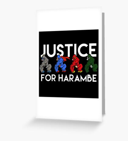 Justice For Harambe Greeting Card