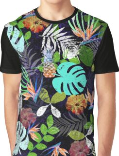 Tropical garden at night Graphic T-Shirt